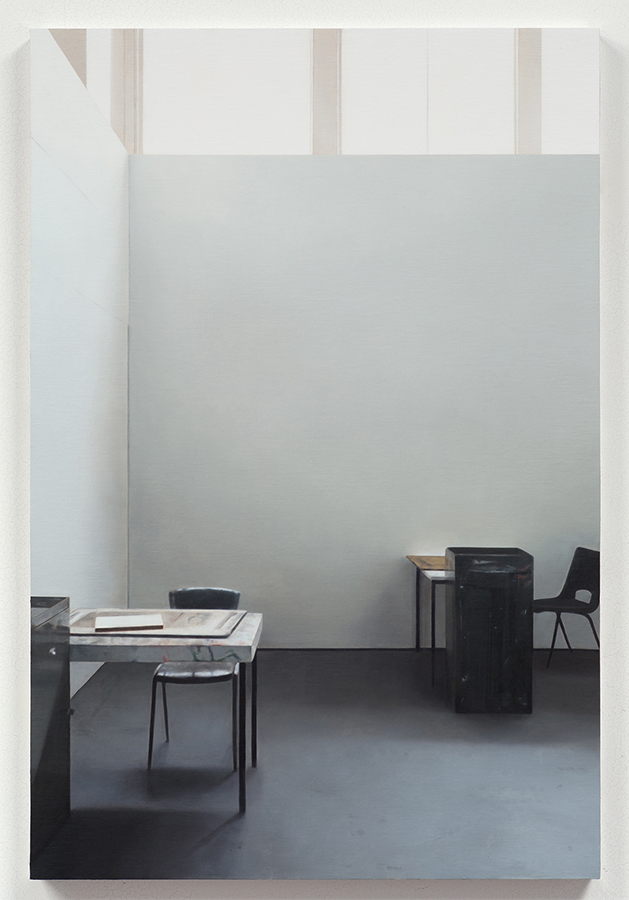 Paul Winstanley, Art School 32, 2014 Oil on panel, 81 x 54 cm