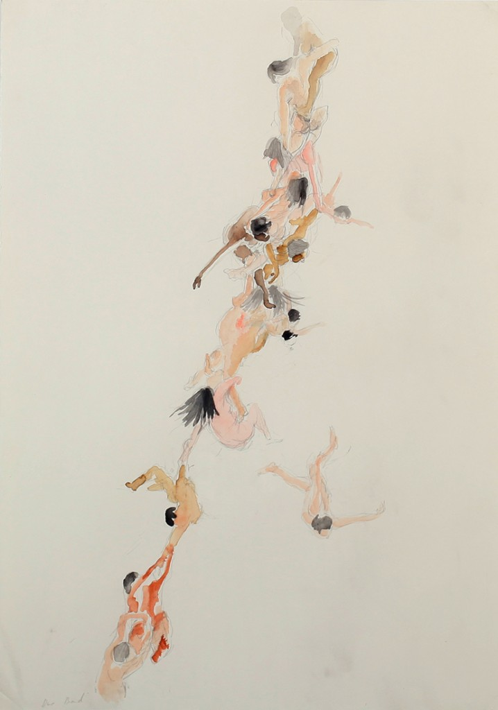 Viet Bang Pham, String, 2013, watercolors and graphite on paper, 50 x 42 cm
